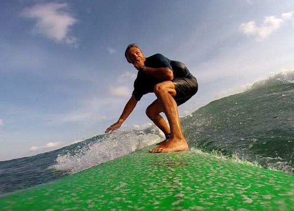 Surfing in Canggu Bali