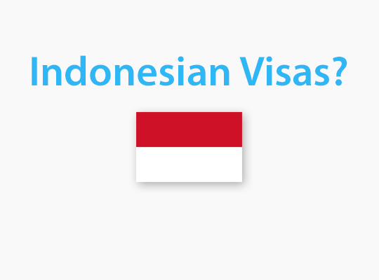 Visas to visit Indonesia