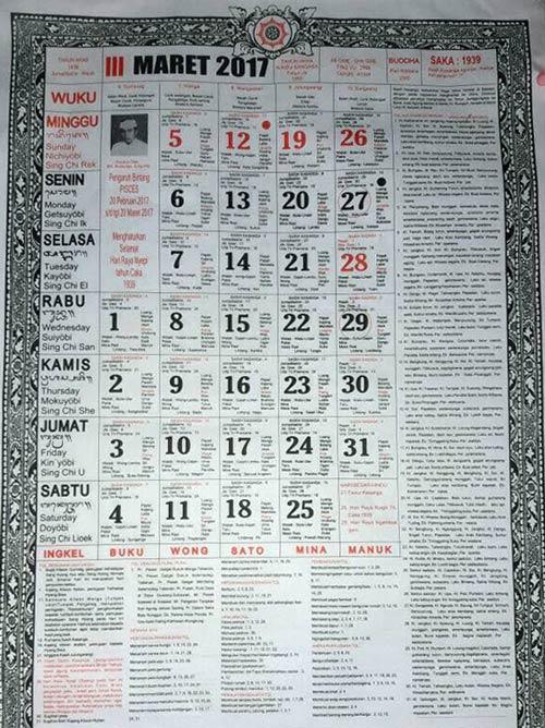 Balinese ceremony calendar