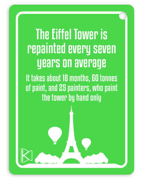 Fun fact - painting Eiffel tower