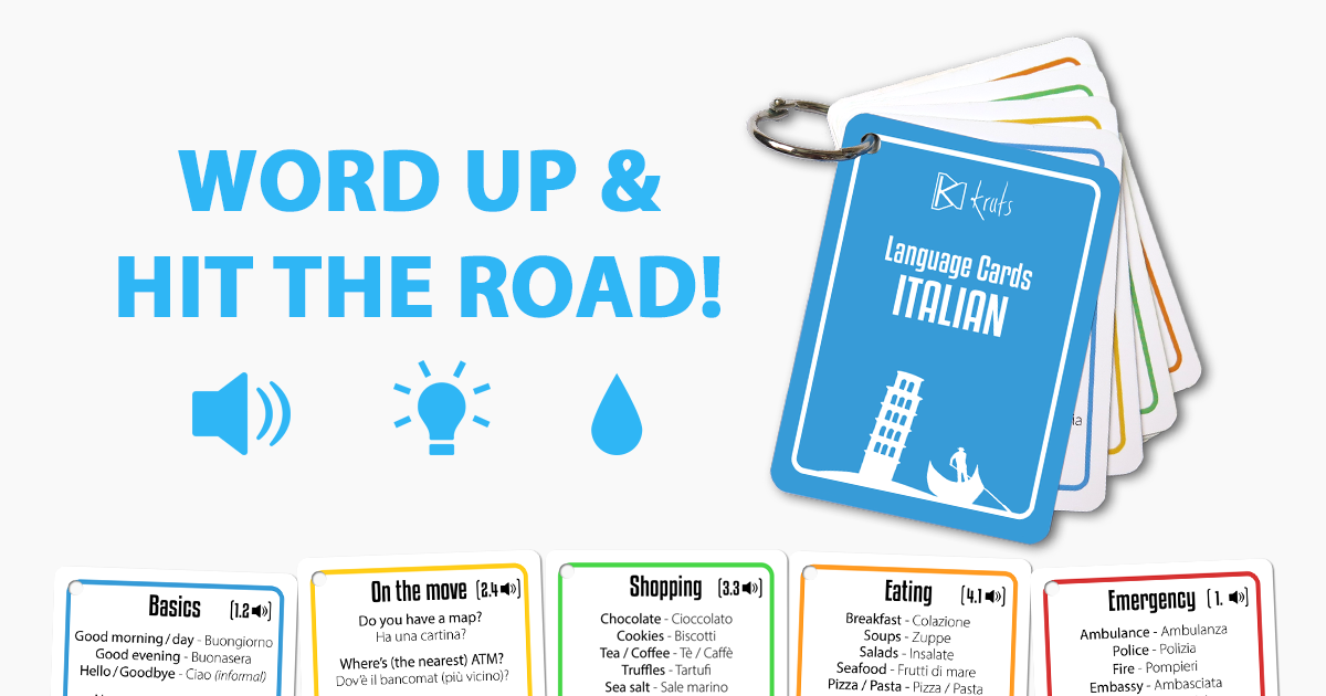 Useful Words And Phrases For a Trip to Italy