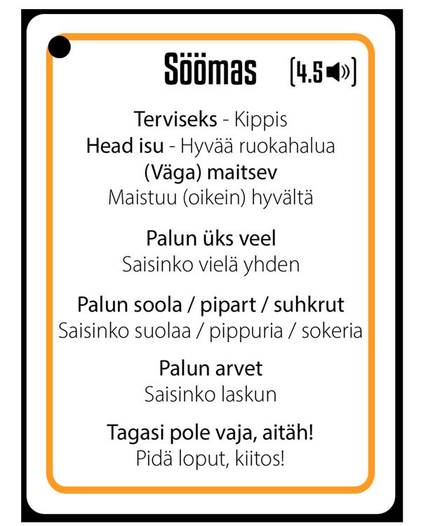 Soome keel restoranis